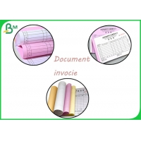 50Gram 55Gram Colored NCR Paper CFB Type Recycled For Printing