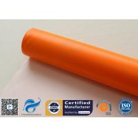 Buy cheap 0.45mm Chemical Corrosion Resistant Orange Silicone Coated Fiberglass Cloth from wholesalers