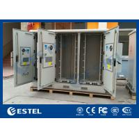 Three Compartments Outdoor Street Cabinets Telecoms For Base Station / 4G System Manufactures