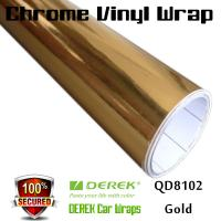 Chrome Mirror Car Wrapping Vinyl Film 3 layers - Chrome Gold Manufactures
