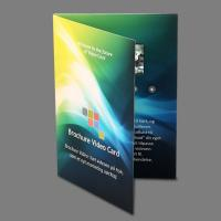 Cheap 5 Inch Lcd Video In Print Brochure Personalized Video Greeting Cards for sale