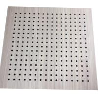 China Interior Decoration MDF Board Wood Perforated Studio Room Acoustic Insulation Panel on sale