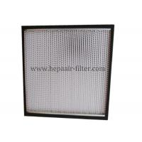 Aluminum Foil Pleat Hepa Air Filters For Air Conditioning Filtration System Manufactures