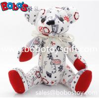 """10"""" Customized Made Stuffed Bear Toys be made in Fashion Printing Fabric Manufactures"""