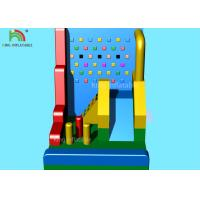 Colorful Inflatable Sports Games / Blow Up Climbing Wall Combine Kids Slide Football Darts 8*5 M Manufactures