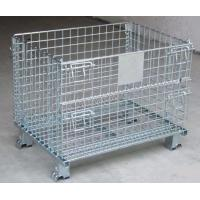 Buy cheap Customized Heavy Duty Foldable Wire Mesh Container Storage Cages with Name Plate from wholesalers