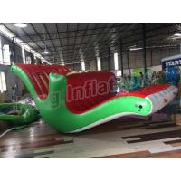 Cheap 5m Long Inflatable Stimulating Totter Seasaw  Floating Water Games For Kids for sale