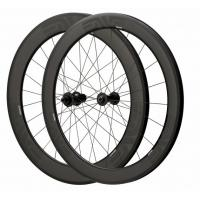 Depth 60mm Carbon Fiber Bike Wheels 23mm Width Clincher Tubular For Racing Manufactures
