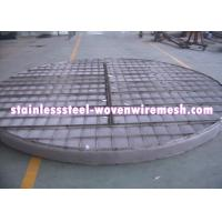 ROUND OR CUSTOMIZE Alloy Wire Meshmist Eliminator Filter Demister Pads With Frame Anti - Corrosion Manufactures