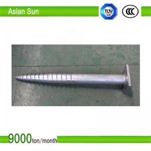 Galvanized Steel Ground Screw Manufactures