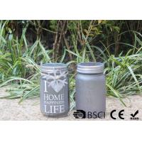 Customized Mason Jar Led Solar Lights , Solar Powered Mason Jar Lantern Manufactures