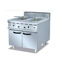 Stainless Steel 32kW 2 Basket Tank Fryer With Cabinet Manufactures