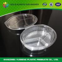 China BOPS Plastic Disposable Food Containers Three Compartment Disposable Food Boxes on sale