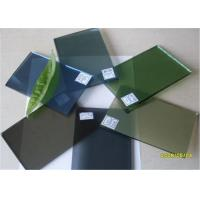 5 Mm Thickness Dark Green Tinted Glass / Floating Glass Panel For Construction Manufactures