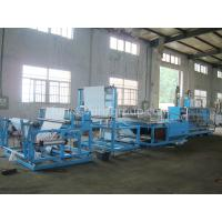 Cheap Non - woven Fabric Sheet Folding Machine Touch Screen And PLC Control for sale