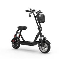 Smart electric folding mini mobility scooter  with Lcd display phone holder  two wheel 55km/h 500W motor high power Manufactures