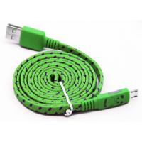 Flat Micro USB2.0 Data Cable with Panda Glowing & Fabric Mesh