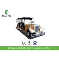 Custom 11 Seater Antique Electric Cars Sightseeing Vehicle For Airport Reception Manufactures