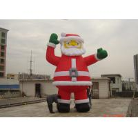 China Customzied 6M Inflatable Ssanta Claus , PVC Santa Claus Air Balloon For Advertising on sale
