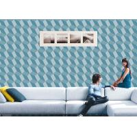 Cheap 3D Effect Geometric Contemporary Wall Covering , 0.53*10M / Roll , Non-Pasted for sale