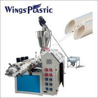 Conical Twin Screw Extruder Machine / PVC Water Supply Pipe Making Machine Manufactures