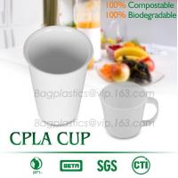 Blister molding biodegradable durable using coffe cup, cpla cup of blister molding, corn starch tea cup Manufactures