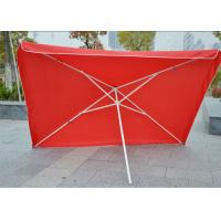 Commercial Square Outdoor Umbrella Parasol , 2.7 M Garden Parasol With Logo Print