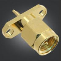 Quality Small Size SMA RF Connector SMA Male Straight Plug With 2 Holes Panel Mount for sale