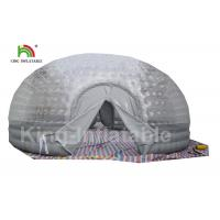 Airtight Combo Color Clear Inflatable Bubble Tent 8m Diameter For Outdoor Manufactures