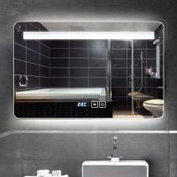 Hidden SS frame bathroom led lighted mirror Square Wall Decor Mirror in multicolour for living room