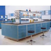 Steel And Wood Lab Tables Work Benches , Central Table For Chemistry / Physical / Biologic Laboratory Manufactures