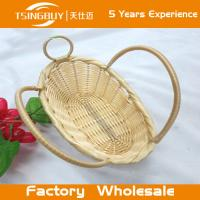 China Factory wholesal 100% nature handcraft rattan gift basket-Food Save Natural Wicker Bread Basket on sale