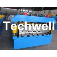 5.5 Kw Steel Metal Roof Roll Forming Machine With Manual, Automatical Decoiler