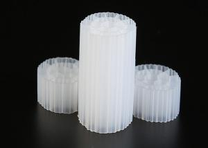Virgin HDPE Material MBBR Plastic Filter Media White Color For Wastewater Treatment Manufactures