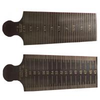 1mm Thickness Universal Welding Gauge , Taper Measuring Gages Gage 30-45mm Manufactures
