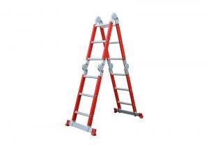 Semi Insulating 5.72m 4X5 Fiberglass Multipurpose Ladder Manufactures