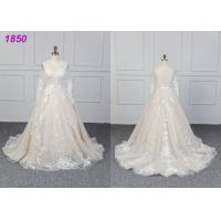 Bridal Long Sleeves Lace Designs A Line Ball Gown Wedding Dress Custom Made Manufactures