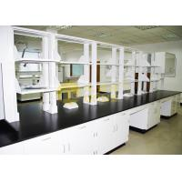 Slab Black epoxy resin laboratory countertops corrosion resistance for university Manufactures