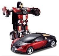Transformers 4 battle robot electric acousto-optic toy remote control car Bugatti