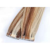 Straight Tape In Human Hair Extensions , Double Dawn Dark Brown Tape In Hair Extensions Manufactures