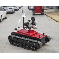 48V Fire Fighting Equipment 0-1.6m/S Speed Remote Control Fire Fighting Robot Manufactures