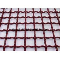 EpoxyPainted Crimped Mining Screen Mesh Sheet High Tensile For Vibrating Machine Manufactures