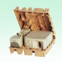 Dry Press Pulp Paper ProductsFor Industrial Packaging , Pulp Molded Packaging