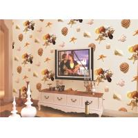 Cheap Eco-Friendly Mediterranean Style Non-Woven Wallpaper With Conch And Starfish Printing for sale