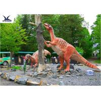 Amusement Park Decoration Realistic Dinosaur Statues Artificial Mother And Baby Models Manufactures