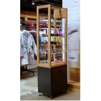 Free Standing Sunglasses Display Case Wood Acrylic Eyeglass Display Tower For Eyewear