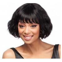 China Ladies Natural Looking Human Hair Wigs Loose Wave Natural Hairline on sale