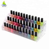Tiered Acrylic Cosmetic Display Acrylic Material Nail Polish Bottle Stand Holder Cosmetic Organizer Manufactures