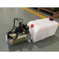 High Performance  Dump Trailer Micro Hydraulic Power Packs With 8L Plastic Oil Tank Manufactures