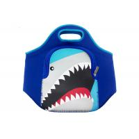 Colorful Small Insulated Neoprene Lunch Tote Bag Cartoon Design For Kids School Manufactures